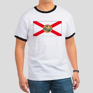 Florida Sunshine State Flag Ringer T
