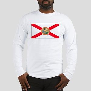Florida Sunshine State Flag Long Sleeve T-Shirt