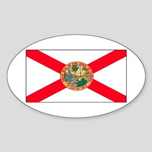 Florida Sunshine State Flag Oval Sticker
