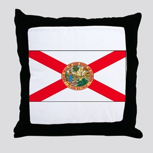Florida Sunshine State Flag Throw Pillow