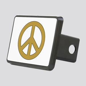 Golden Peace Sign Hitch Cover