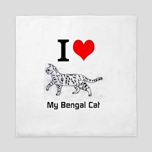 Bengal Cat Love Queen Duvet