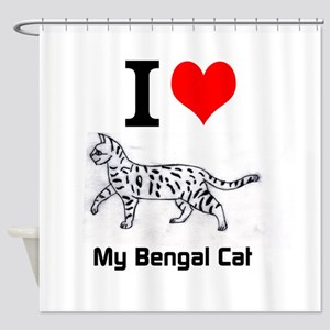 Bengal Cat Love Shower Curtain
