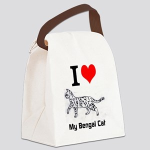 Bengal Cat Love Canvas Lunch Bag