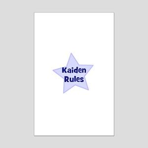 Kaiden Rules Mini Poster Print