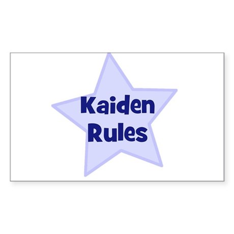 Kaiden Rules Rectangle Sticker
