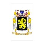 Birnzweig Sticker (Rectangle 10 pk)