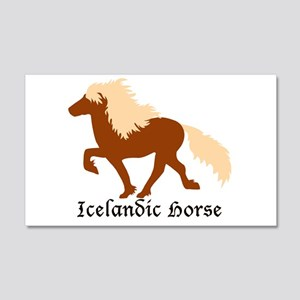20 x 12 Wall decal Chestnut Icelandic Horse