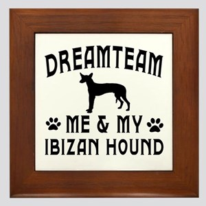 Ibizan Hound Dog Designs Framed Tile