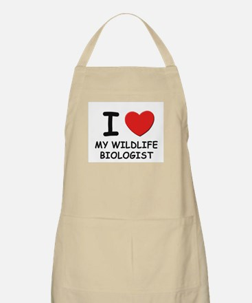 I Love wildlife biologists BBQ Apron