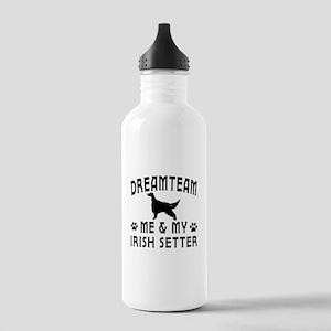 Irish Setter Dog Designs Stainless Water Bottle 1.