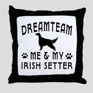 Irish Setter Dog Designs Throw Pillow