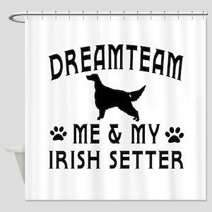 Irish Setter Dog Designs Shower Curtain