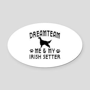 Irish Setter Dog Designs Oval Car Magnet