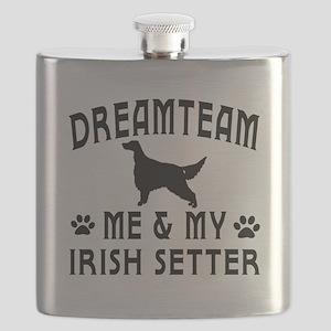 Irish Setter Dog Designs Flask