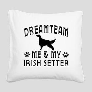 Irish Setter Dog Designs Square Canvas Pillow