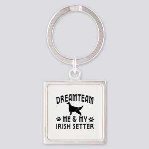 Irish Setter Dog Designs Square Keychain