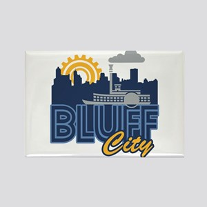 Bluff City Rectangle Magnet