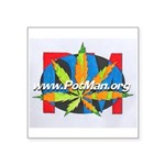 potman marijuana leaf logo 1 Sticker