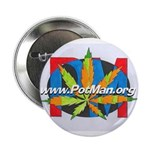 "potman marijuana leaf logo 1 2.25"" Button"