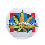 "potman marijuana leaf logo 1 3.5"" Button"