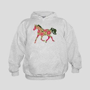 Floral Horse Hoody