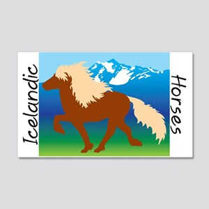 20 x 12 Icelandic horse scene Wall Decal