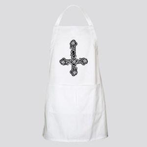 Inverted Cross And Roses Apron