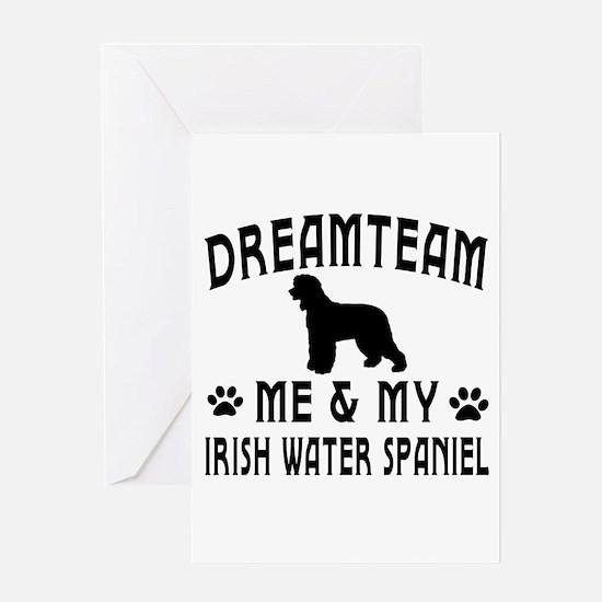 Irish Water Spaniel Dog Designs Greeting Card