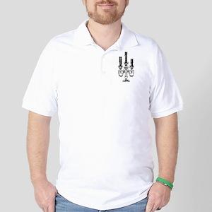 Gothic Skull Candelabra Golf Shirt