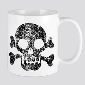 Worn Skull And Crossbones Mug