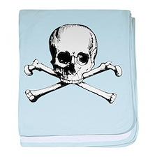 Classic Skull And Crossbones baby blanket