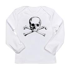 Classic Skull And Crossbones Long Sleeve Infant T-
