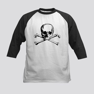 Classic Skull And Crossbones Kids Baseball Jersey
