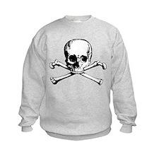 Classic Skull And Crossbones Kids Sweatshirt