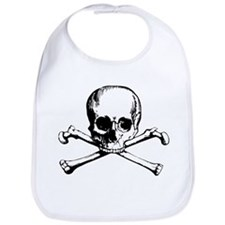 Classic Skull And Crossbones Bib
