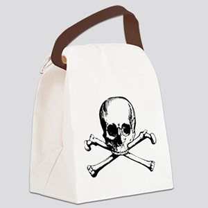Classic Skull And Crossbones Canvas Lunch Bag