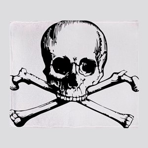 Classic Skull And Crossbones Throw Blanket