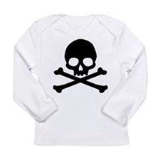 Simple Skull And Crossbones Long Sleeve Infant T-S