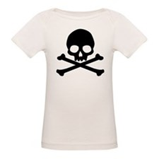 Simple Skull And Crossbones Organic Baby T-Shirt