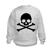 Simple Skull And Crossbones Kids Sweatshirt