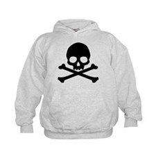 Simple Skull And Crossbones Kids Hoodie