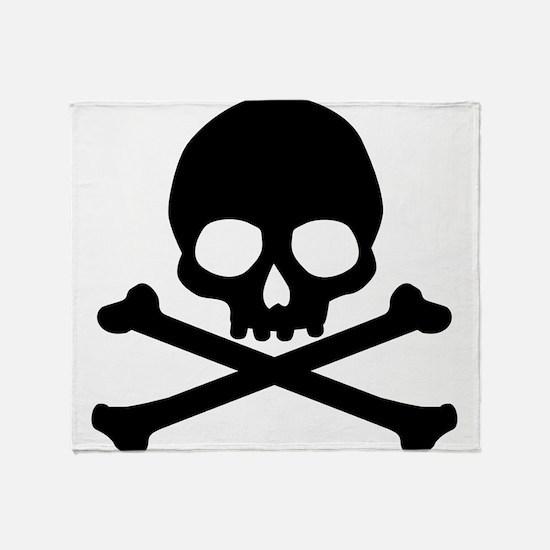 Simple Skull And Crossbones Throw Blanket