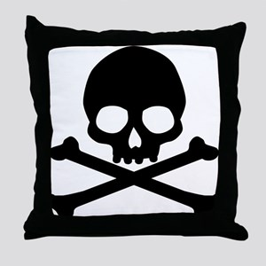 Simple Skull And Crossbones Throw Pillow