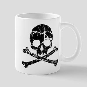 Crackled Skull And Crossbones Mug