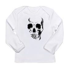 Skull Face Long Sleeve Infant T-Shirt