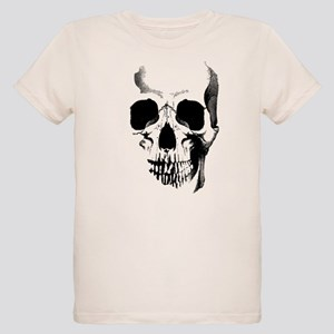 Skull Face Organic Kids T-Shirt