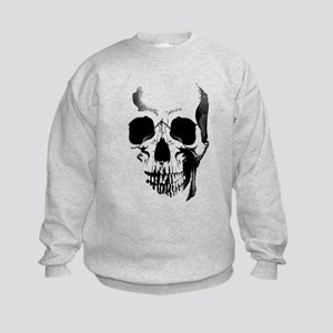 Skull Face Kids Sweatshirt
