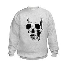 Skull Face Kids Sweatshirt