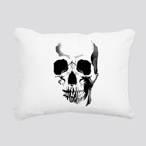 Skull Face Rectangular Canvas Pillow